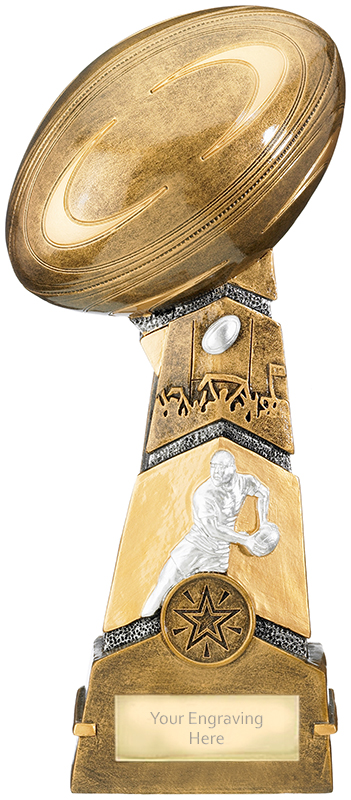 """Forza Rugby Trophy 24.5cm (9.75"""")"""
