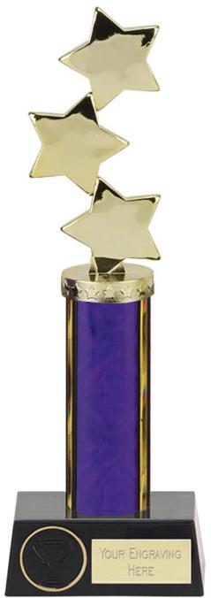 "Hope Star Purple Plastic Column Award 28.5cm (11.25"")"