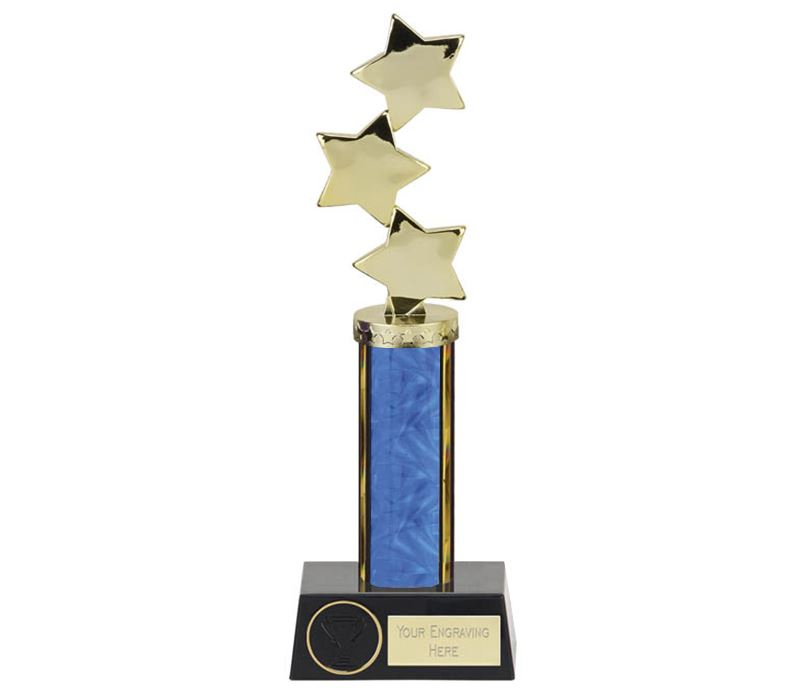 """Hope Star Blue Plastic Column Award 28.5cm (11.25"""")"""