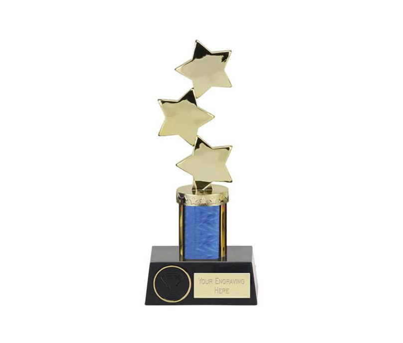 "Hope Star Blue Plastic Column Award 23.5cm (9.25"")"