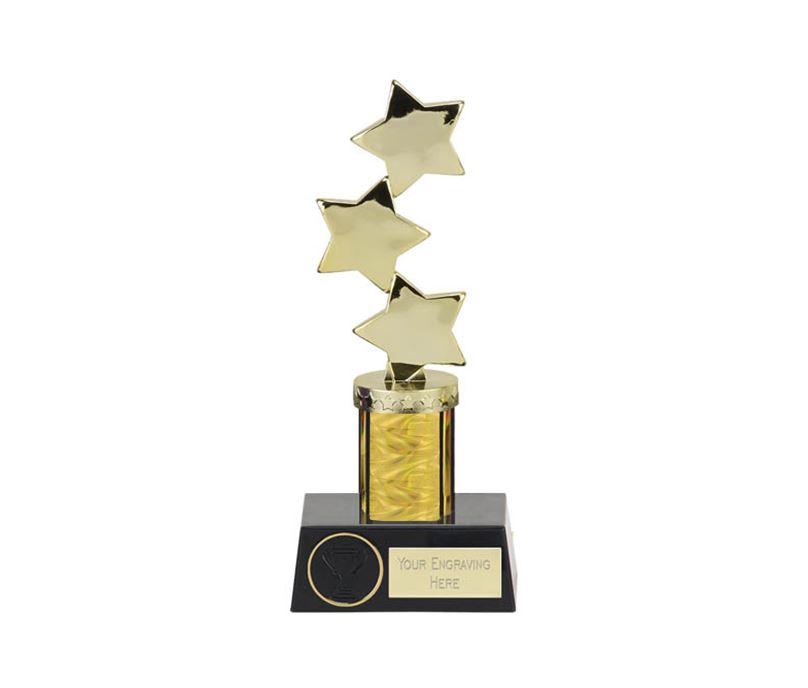 "Hope Star Gold Plastic Column Award 28.5cm (11.25"")"