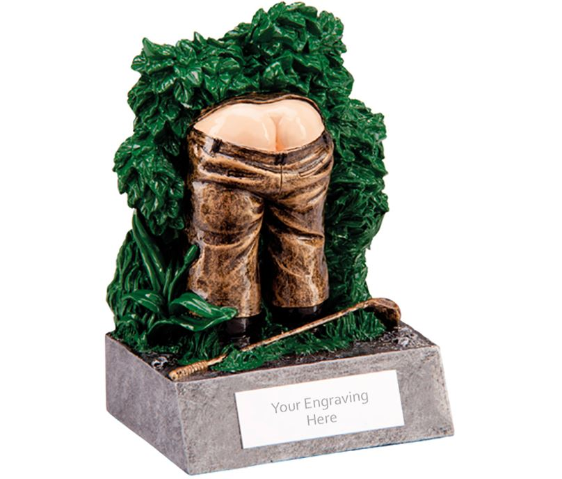 "Humorous Lost Ball Novelty Golf Trophy 12cm (4.75"")"