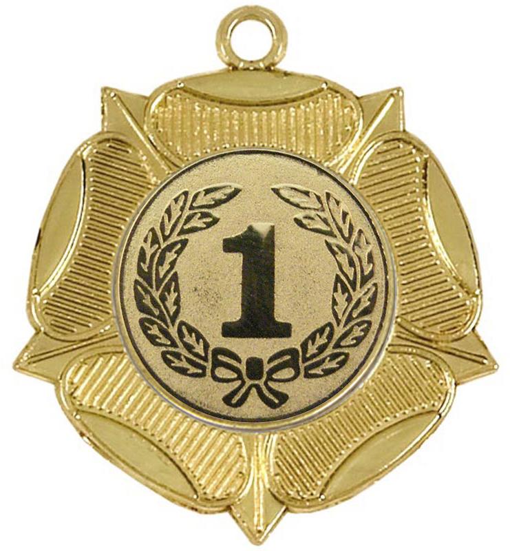 """Tudor Rose 1st Place Gold Medal 50mm (2"""")"""