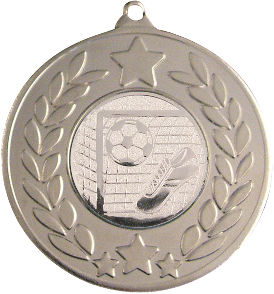 "Silver Laurel Wreath Football Medal 50mm (2"")"