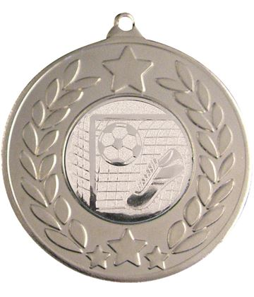 "Silver Laurel Wreath Football Medal 50mm (2"")"