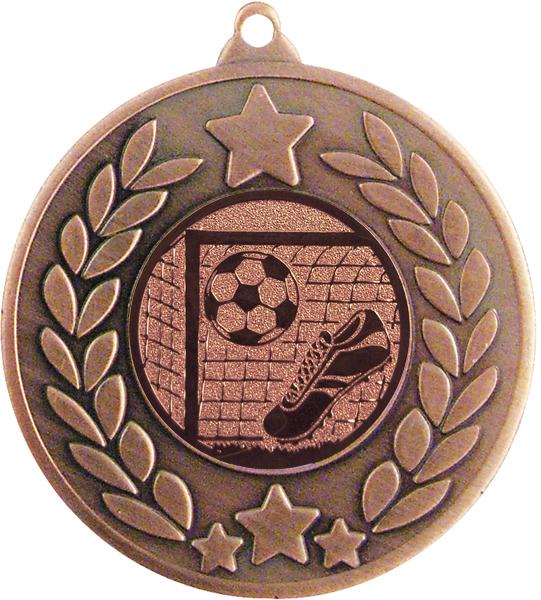 "Bronze Laurel Wreath Football Medal 50mm (2"")"