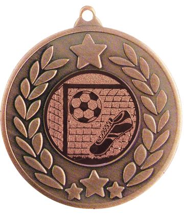 "Bronze Laurel Wreath Football Medal 50mm (2"")"