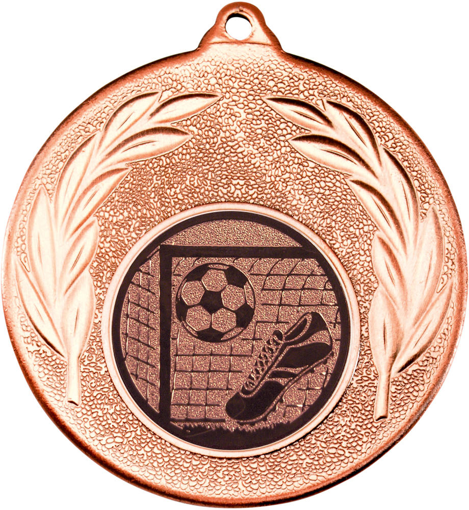"Bronze Leaf Medal with Football Centre Disc 50mm (2"")"