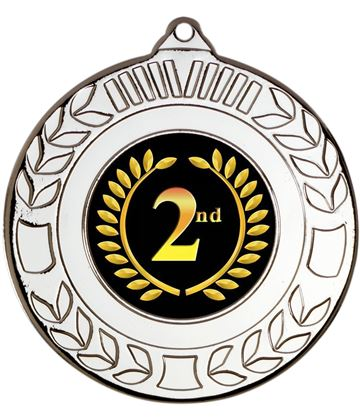 "Silver 2nd Place Wreath Medal 50mm (2"")"
