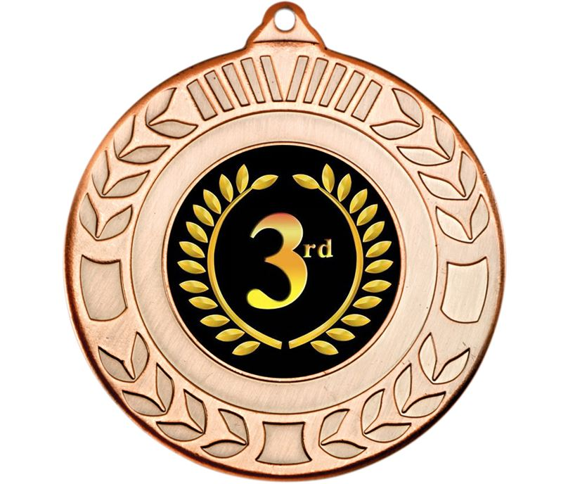 "Bronze 3rd Place Wreath Medal 50mm (2"")"