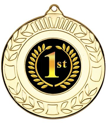 "Gold 1st Place Wreath Medal 50mm (2"")"