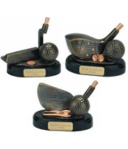 Resin Golf Clubs Trophy Package