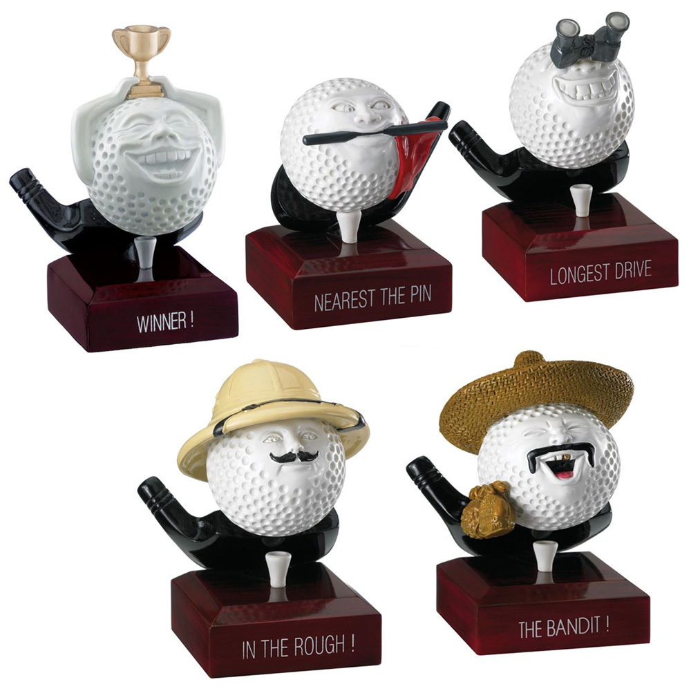 Resin Novelty Golf Ball Trophy Package