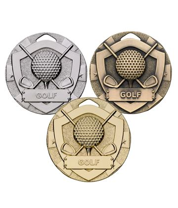 Mini Shield Golf Medal Package