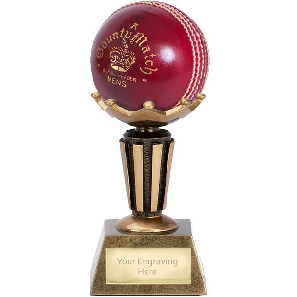 "Cricket Ball Holder Trophy on Decorative Base 9.5cm (3.75"")"