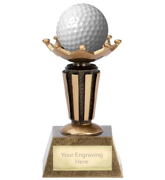"Golf Ball Holder Trophy on Decorative Base 9.5cm (3.75"")"