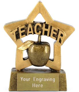 "Mini Stars Teacher Award 8.5cm (3.25"")"