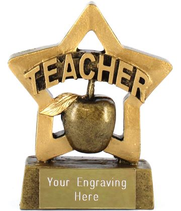 "Mini Stars Teacher Award 8.5cm (3.25"")"