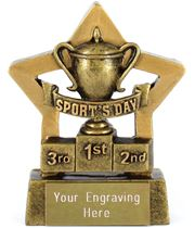 "Mini Stars Sports Day Award 8.5cm (3.25"")"