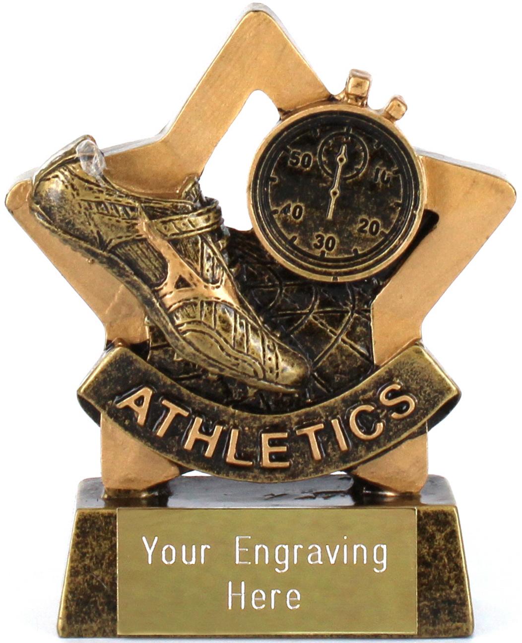 "Mini Star Athletics Shoe Trophy 8.5cm (3.25"")"