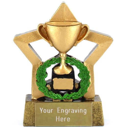 """Resin Mini Star Gold Cup Trophy 8.5cm (3.25"""")"""