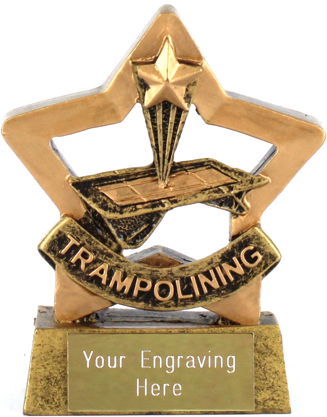 "Resin Mini Star Trampolining Award Trophy 8.5cm (3.25"")"