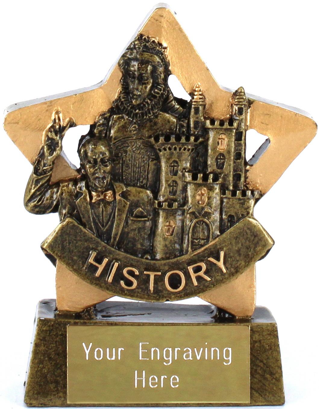 "Resin Mini Star History Award Trophy 8.5cm (3.25"")"