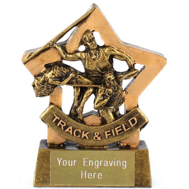 "Resin Mini Star Track & Field Award Trophy 8.5cm (3.25"")"