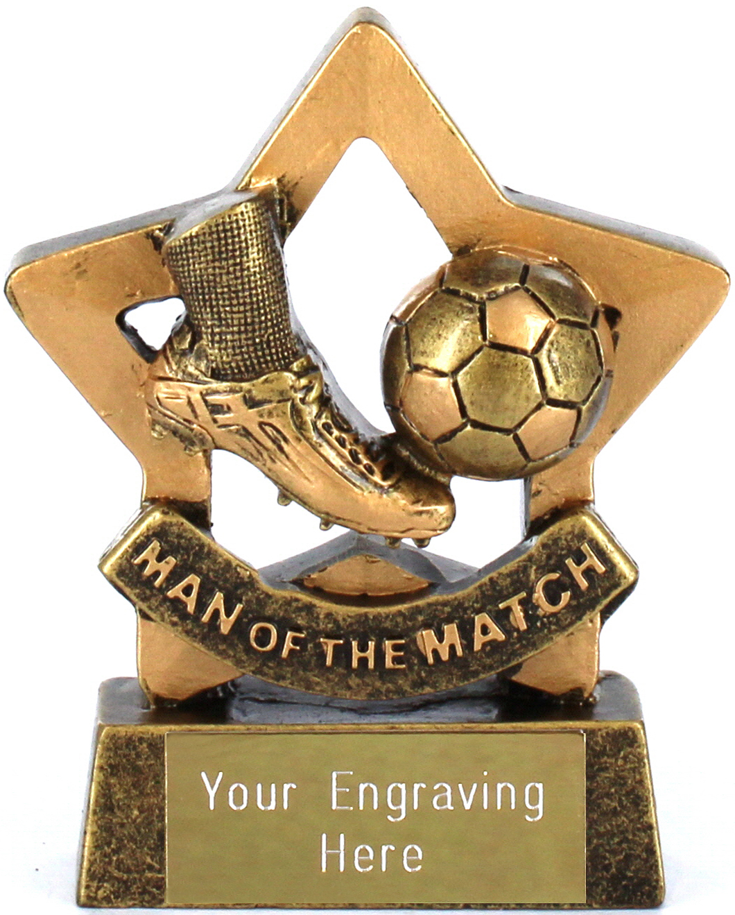 "Mini Star Man of the Match Trophy 8.5cm (3.25"")"