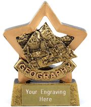 "Resin Geography Mini Star Award Trophy 8.5cm (3.25"")"