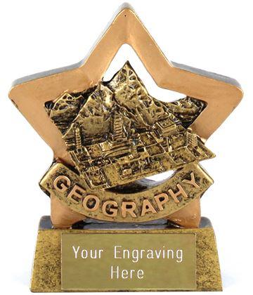 "Resin Geography Mini Star Award Trophy 8.5cm (3.25"")"