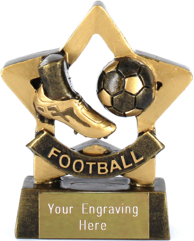 "Mini Stars Football Award Trophy 8.5cm (3.25"")"