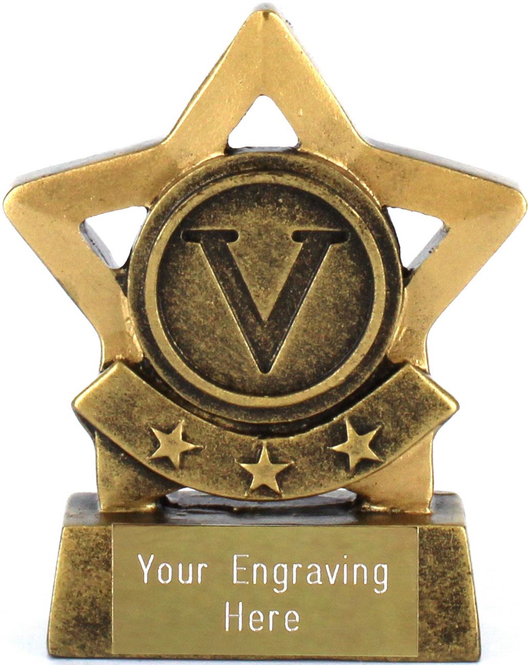"Victory Star Multi Sport Trophy 8cm (3.25"")"