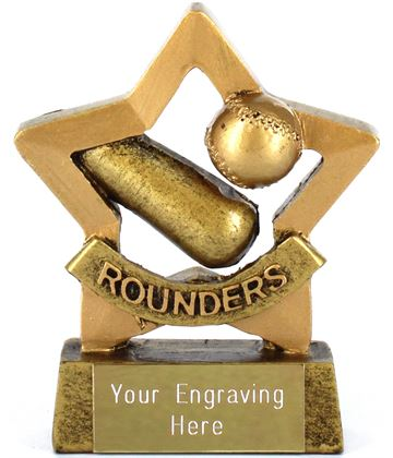 "Mini Stars Rounder's Award Trophy 8.5cm (3.25"")"
