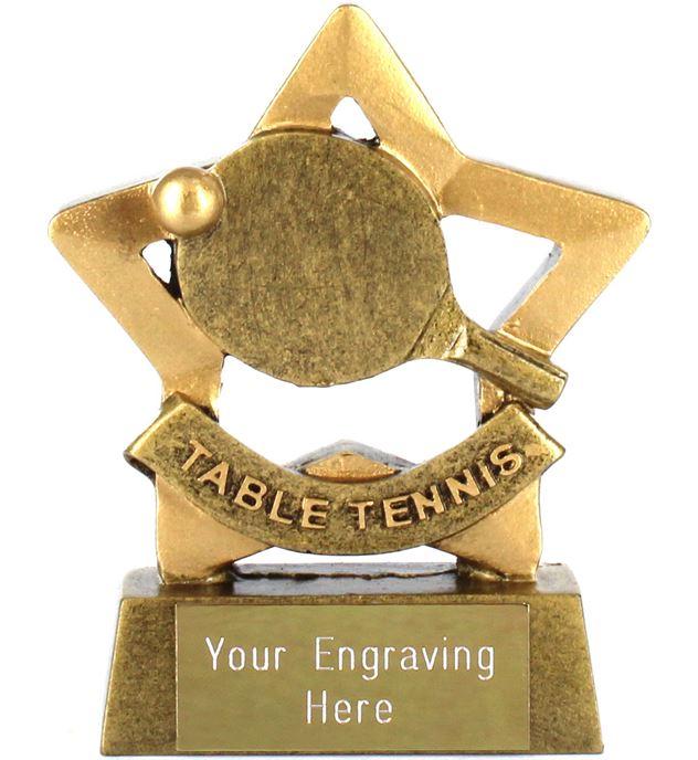 "Mini Stars Table Tennis Trophy 8.5cm (3.25"")"