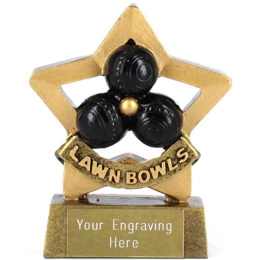 """Mini Stars Lawn Bowls Award 8.5cm (3.25"""")"""