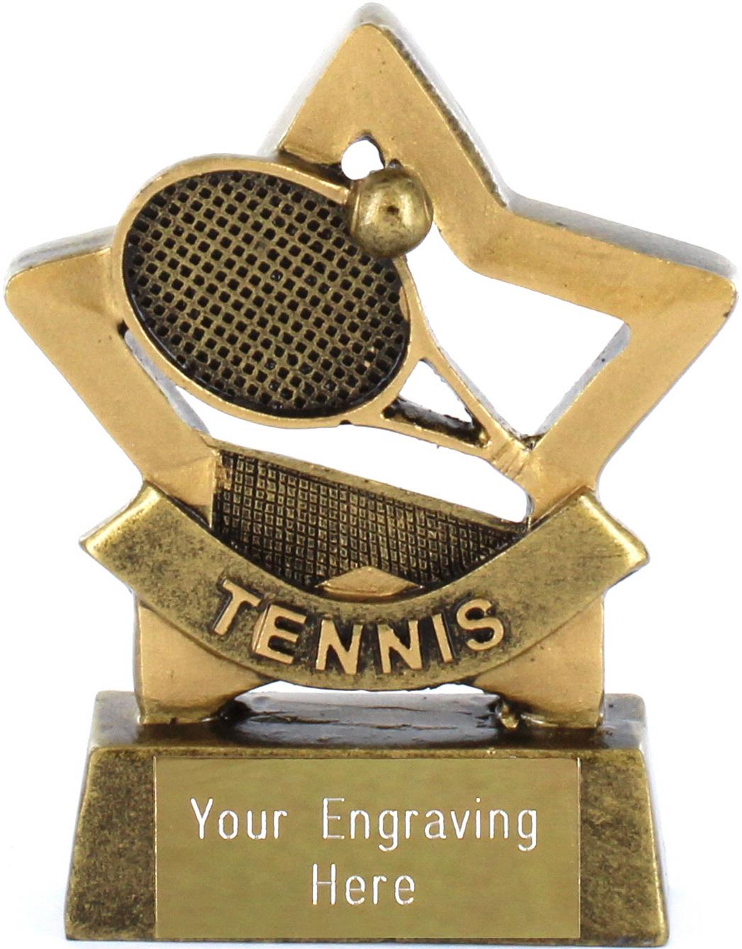 """Mini Stars Tennis Trophy Award 8.5cm (3.25"""")"""