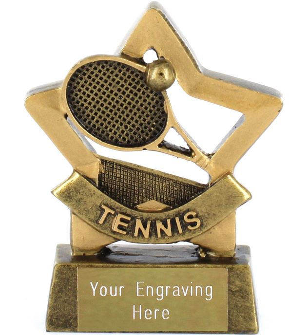 "Mini Stars Tennis Trophy Award 8.5cm (3.25"")"