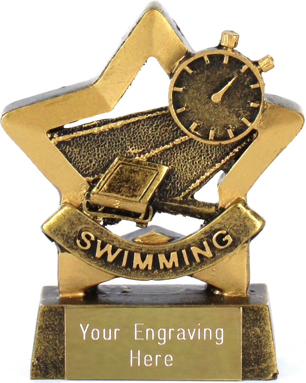 "Mini Stars Swimming Trophy Award 8.5cm (3.25"")"