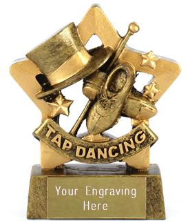 "Mini Stars Tap Dancing Award 8.5cm (3.25"")"