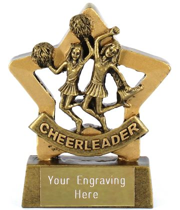 "Mini Stars Cheerleader Award 8.5cm (3.25"")"