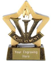 "Mini Stars Achievement Award Trophy 8.5cm (3.25"")"