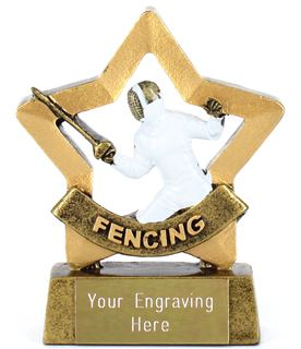 "Mini Stars Fencing Award 8.5cm (3.25"")"