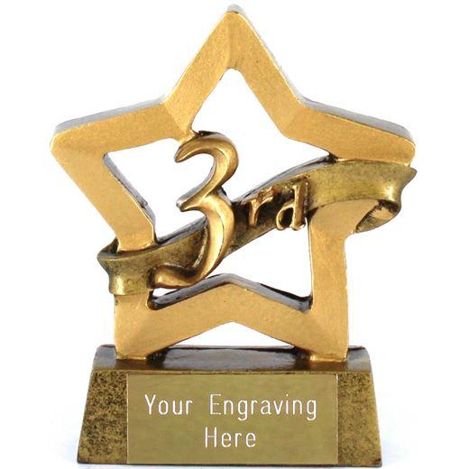 "Mini Stars 3rd Place Award Trophy 8.5cm (3.25"")"