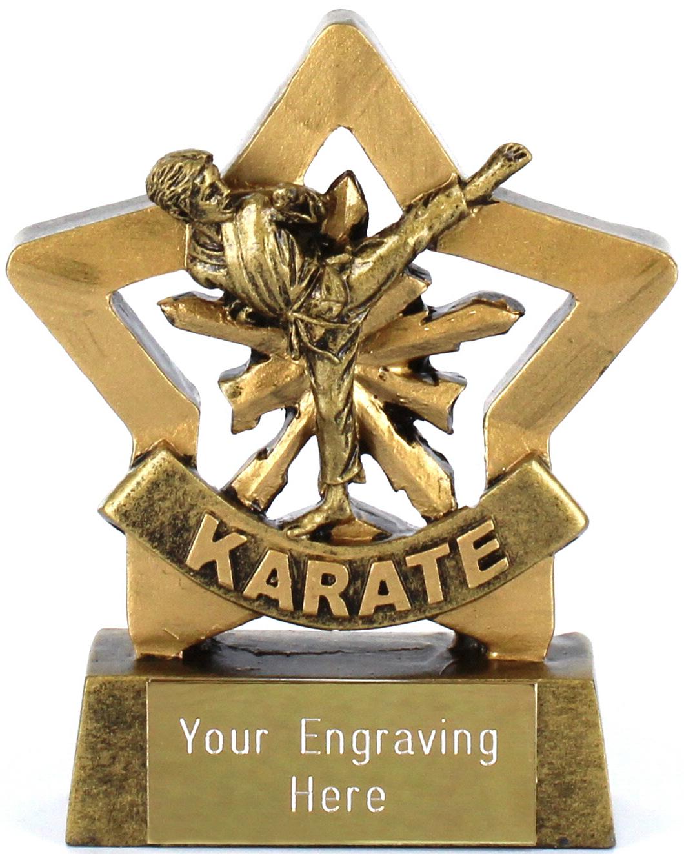 "Mini Stars Karate Boy Award 8.5cm (3.25"")"