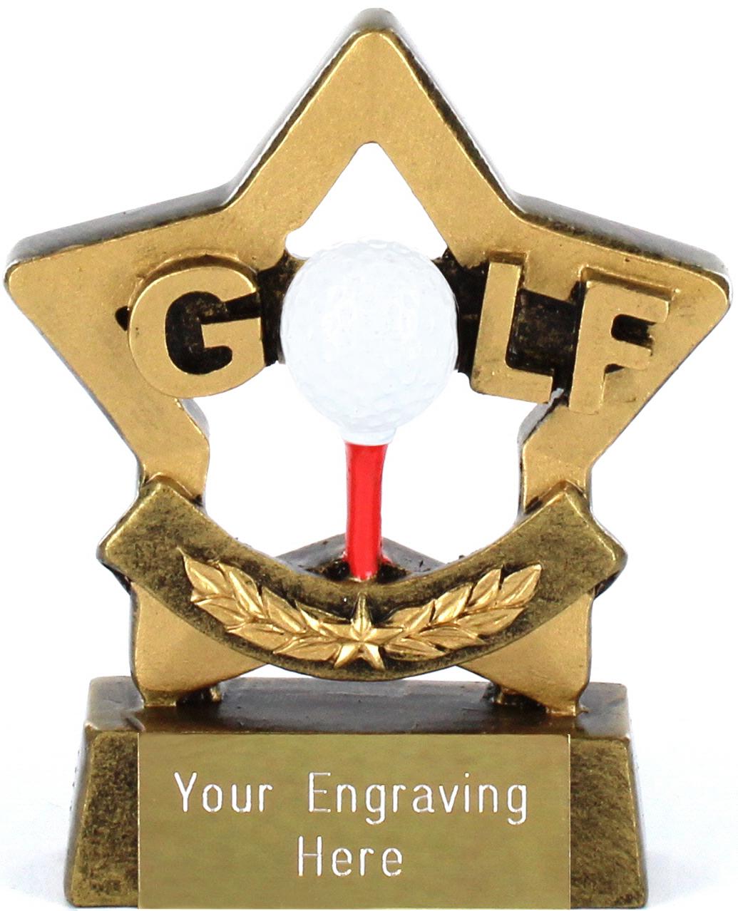 """Mini Stars Golf Award 8.5cm (3.25"""")"""
