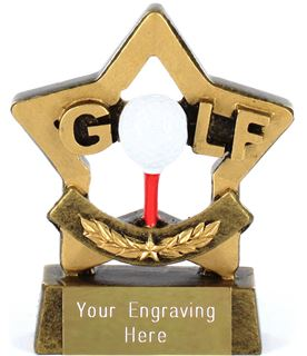 "Mini Stars Golf Award 8.5cm (3.25"")"