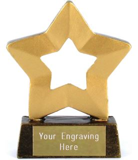 "Blank Mini Stars Award Trophy 8.5cm (3.25"")"