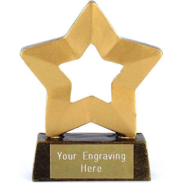 "Blank Mini Stars Award Trophy 8.5cm (3.25"")"