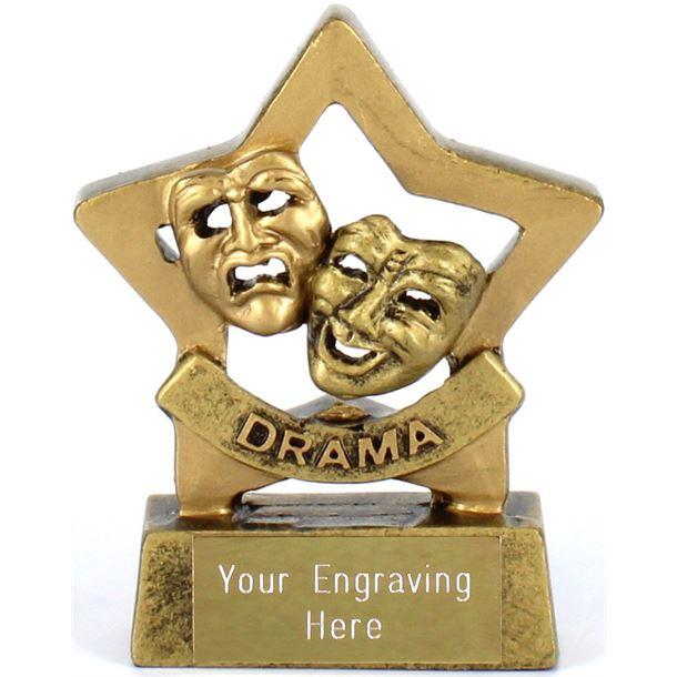 "Mini Stars Drama Award Trophy 8.5cm (3.25"")"